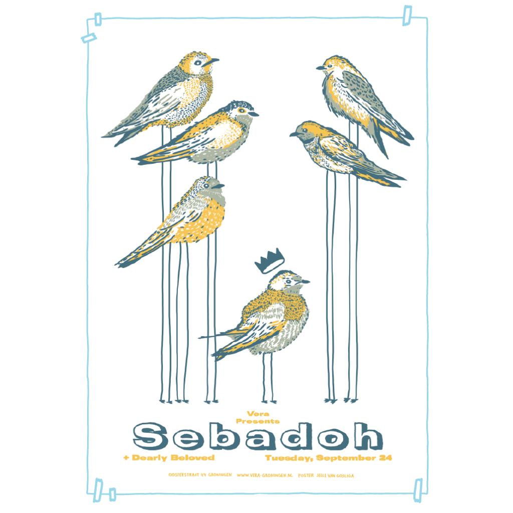 Gigposter Jelle van Gosliga | Sebadoh